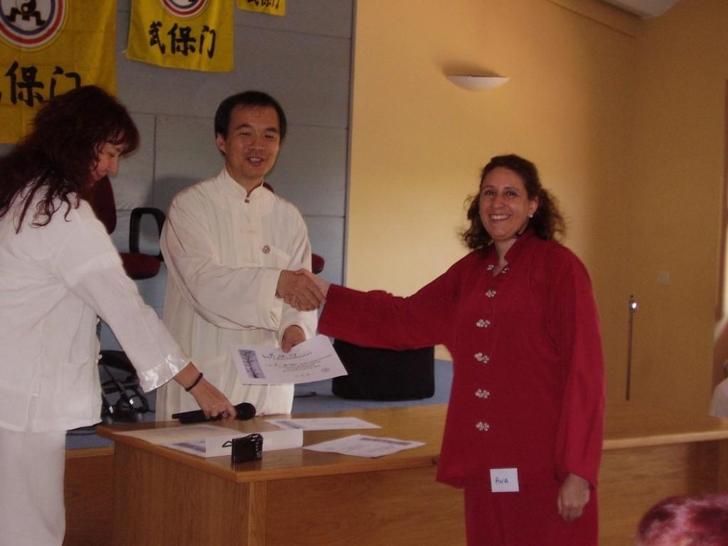 Qi Gong – Seminario – Ana y maestro 2