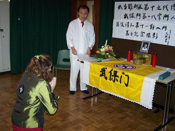 Ceremonia Discípulos Maestro Sun Junqing – 2006 – 1