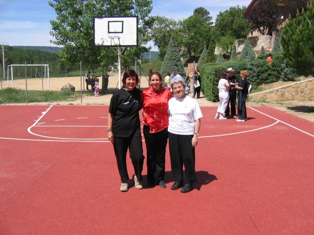 Elena Sánchez, Ana Zaragoza y Cecilia Limongi en la Toba