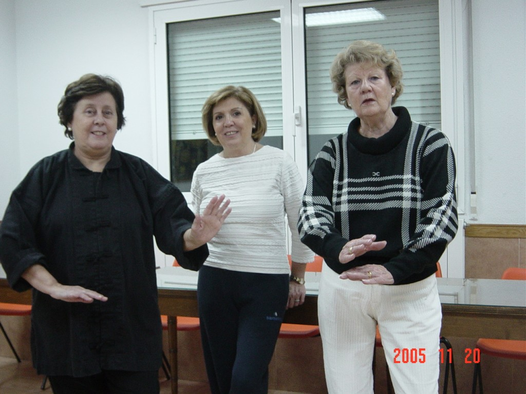 Alumnas Tai chi de la Parroquia Sagrados Corazones Madrid