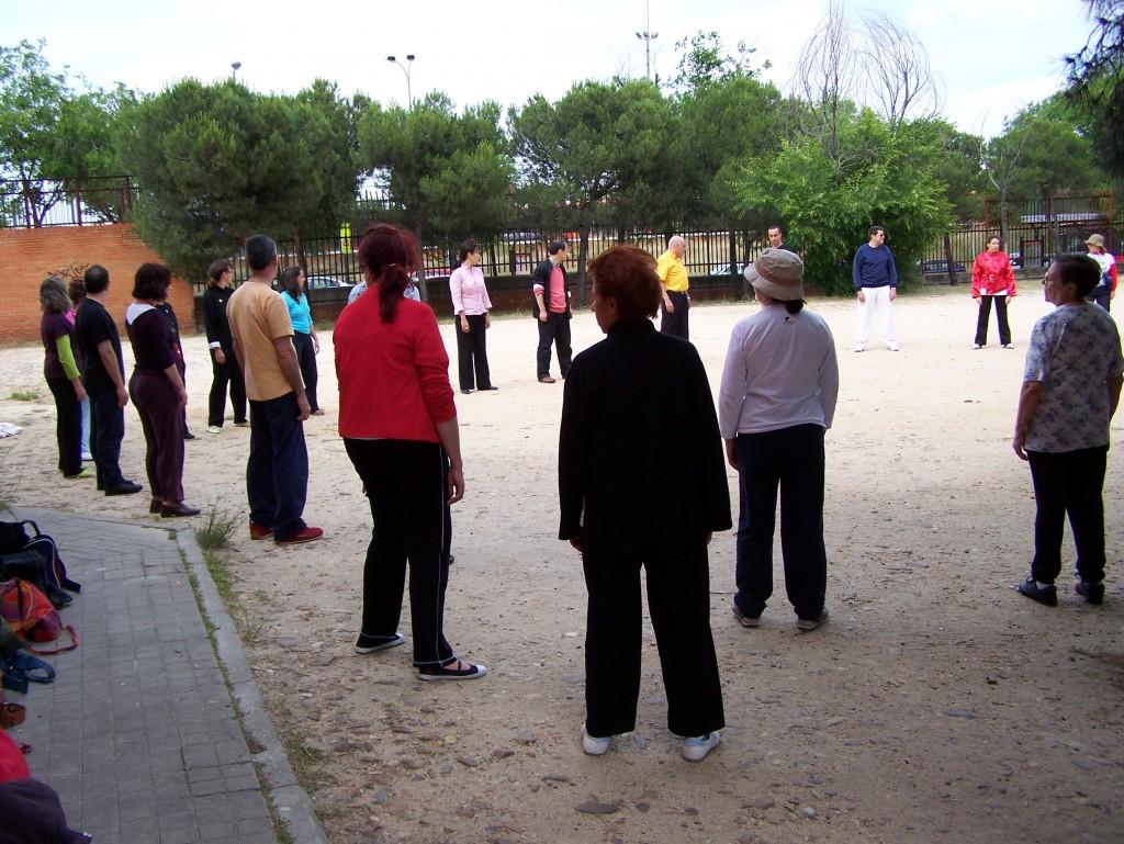 Seminario de Wubaomen Qi Gong en el Pinar Practicando