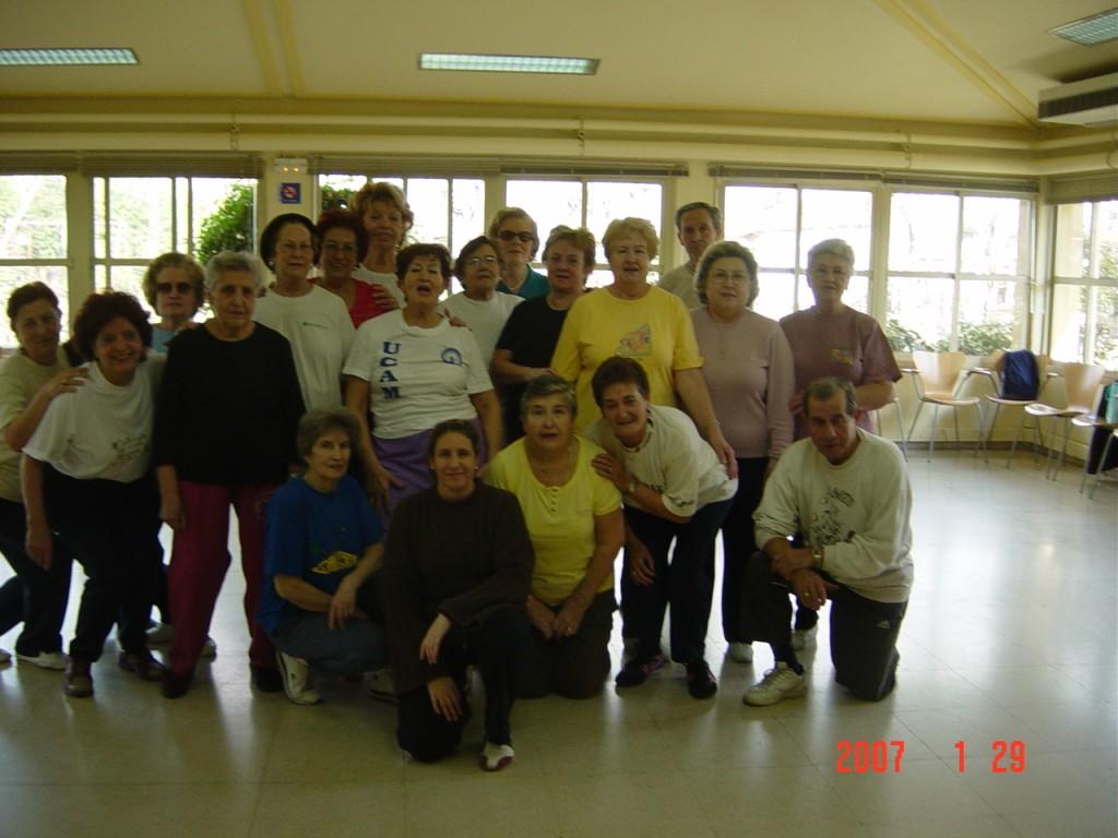 Gimnasia de Mantenimiento segundo grupo  Centro Castilla de Servicios Sociales de Madrid