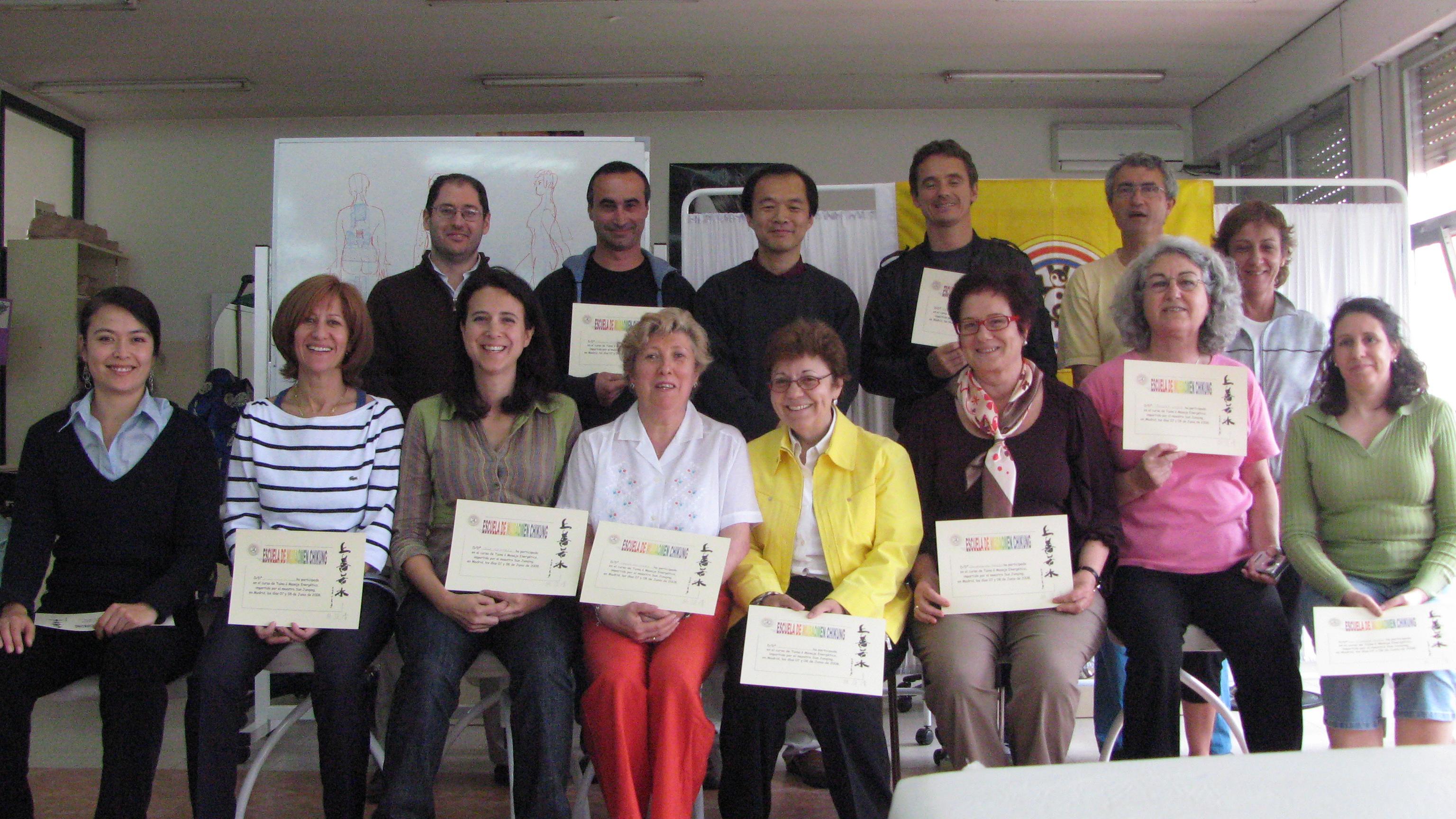 seminario de Tuina con el Maestro Sun Junqing Madrid 2008